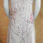 Pink Dress with metalic and silver beading