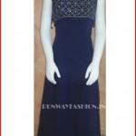 Navy Blue Beaded Long Dress