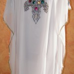 Custom Made Crystal Embroidery Kaftan