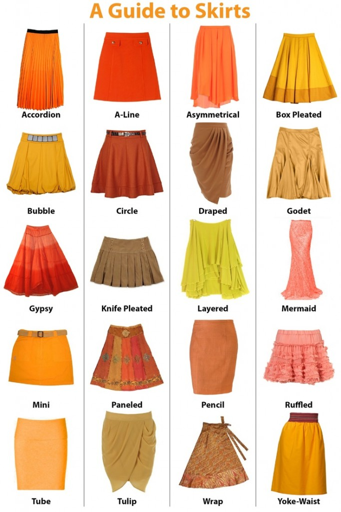 Various Types Of Ladies Skirts Runway Fashion Tailor