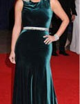 Celebrity Long Velvet Dress Custom Made