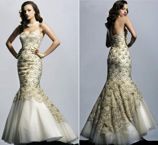 a1062bf4d56fd Mermaid Gown - المدرج الأزياء - مصممة خصيصا فساتين
