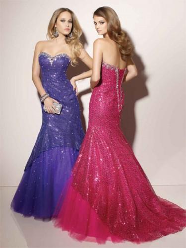 edf1913a26077 Tulle Mermaid Prom Dress - المدرج الأزياء - مصممة خصيصا فساتين ...