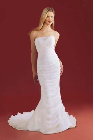 8d5a01a2ea5f1 Silk Crepe Mermaid Wedding Dress - المدرج الأزياء - مصممة خصيصا ...