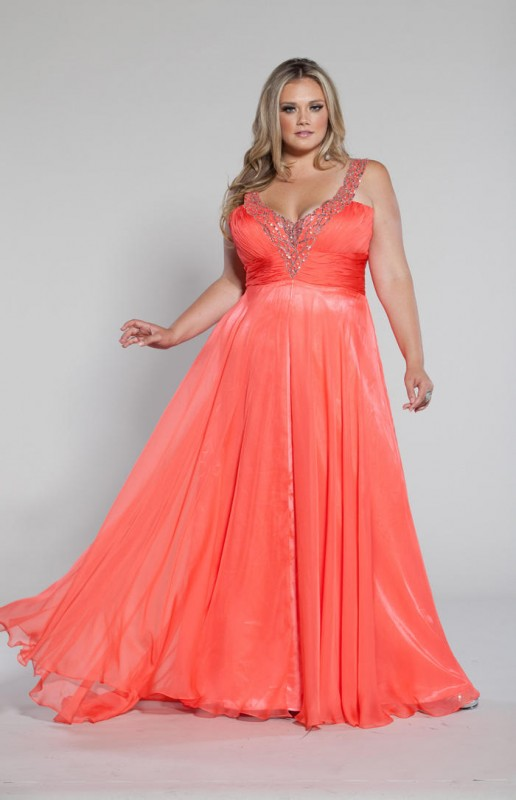Plus Size Prom Dress - Runway Fashion - Tailor made dresses ...