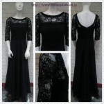Long Evening Black Gown - Custom Made to Measure